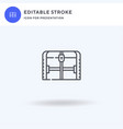 chest icon filled flat sign solid vector image vector image