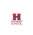 choreography school sign vector image