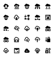 Cloud Data Technology Icons 2 vector image vector image