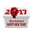 congratulations to new year on background vector image