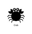 crab icon silhouette icon vector image vector image