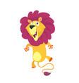 cute cartoon lion character vector image vector image
