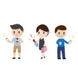 cute character business man healthy man vector image