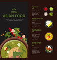 design template of asian food menu vector image