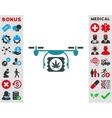 Drugs Drone Shipment Icon vector image vector image