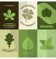 Ecology icons poster print vector image