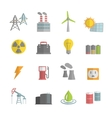 Energy Power Flat Icons Set vector image vector image