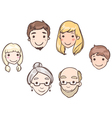 family heads vector image vector image