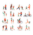 family sport color set vector image
