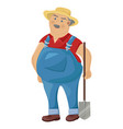farmer cartoon character funny man with a vector image