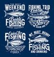 fishing sport t-shirt print templates vector image