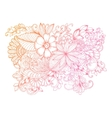 Floral doodles on white vector image vector image