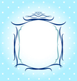 Frames Borders greeting card design vector image