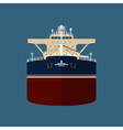 Front View of Oil Tanker vector image vector image