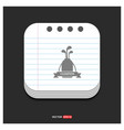golf bat icon gray icon on notepad style template vector image