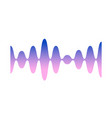 gradient colorful sound wave track or voice vector image vector image
