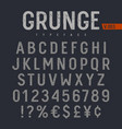 grunge font 005 vector image vector image