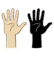 hand gesture sign number five vector image vector image