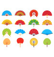 handheld fan chinese or japanese paper ancient vector image