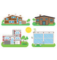 house home exterior set in vector image