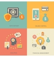 icons of financial analytics online banking and vector image vector image