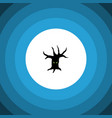 isolated tree monster flat icon terrible vector image vector image