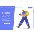 landing page online delivery service vector image