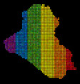 lgbt dotted iraq map vector image