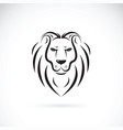 lion head design on white background wild vector image vector image