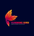 logo humming bird gradient colorful style vector image vector image