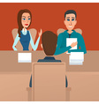 Man having a job Interview with HR specialists and vector image vector image