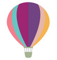 multicolor air balloon on white background vector image