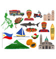 philippines travel set vector image vector image
