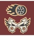 rasing logo graphic design logo race cars vector image