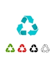 Recycling symbols set isolated on white vector image vector image