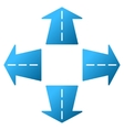 Road Directions Gradient Icon vector image vector image