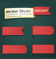 sale banner tags set red discount badges and big vector image vector image