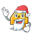 santa number four isolated on the mascot vector image vector image
