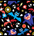 seamless bright festive halloween pattern with vector image vector image