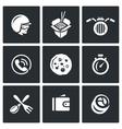 Set of Delivery Icons Courier Food vector image vector image