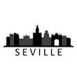 seville skyline vector image vector image