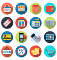 Shopping flat icons vector image vector image