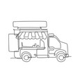 single continuous line drawing stylized food vector image