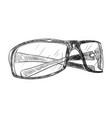 sketch of glasses vector image vector image