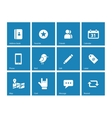Social icons on blue background vector image vector image