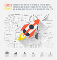 startup business idea concept vector image vector image