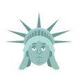 statue of liberty sad emoji us landmark statue vector image vector image