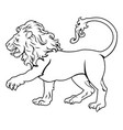 stylised lion vector image vector image