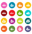 submarine icons set colorful circles vector image vector image