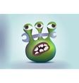 Three eyes alien monster vector image vector image